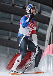 11.02.2018, Olympic Sliding Centre, Pyeongchang, KOR, PyeongChang 2018, Rodeln, Herren, 4. Lauf, im Bild Chris Mazdzer (USA, 2. Platz) // silver medalist Chris Mazdzer of the USA during the Men's Luge Singles Run 4 competition at the Olympic Sliding Centre in Pyeongchang, South Korea on 2018/02/11. EXPA Pictures © 2018, PhotoCredit: EXPA/ Johann Groder