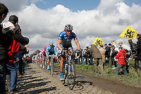 Ekomiv leading on the cobbles
