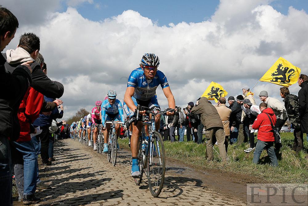Ekomiv leading on the cobbles