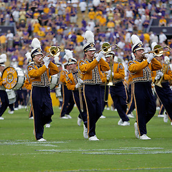 19 September 2009: The LSU Tigers band performs during a 31-3 win by the LSU Tigers over the University of Louisiana-Lafayette Ragin Cajuns at Tiger Stadium in Baton Rouge, Louisiana.