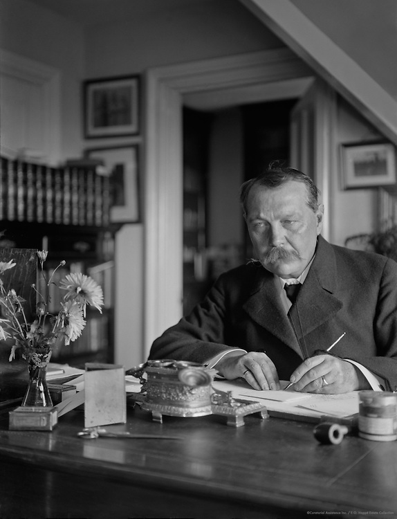 Sir Arthur Conan Doyle, Scottish Author, 1912