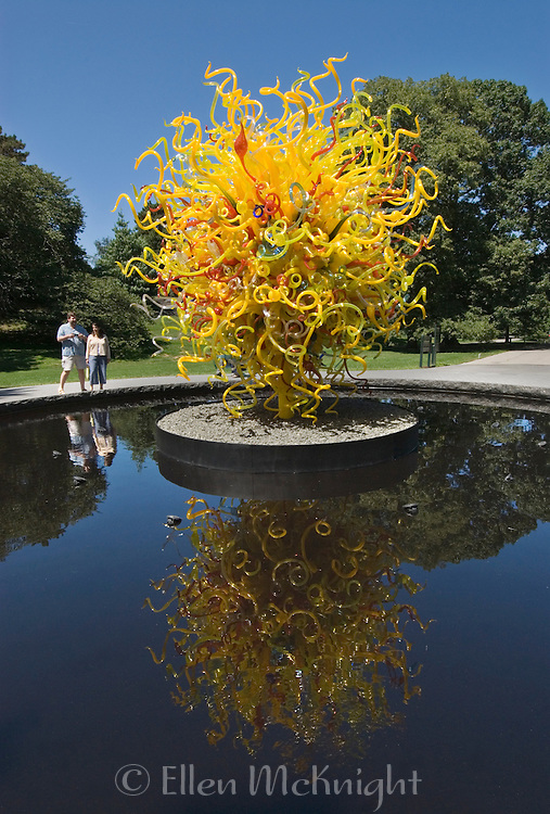 """The Sun"" glass sculpture by Dale Chihuly at the New York Botanical Garden in the Bronx during the summer of 2006"