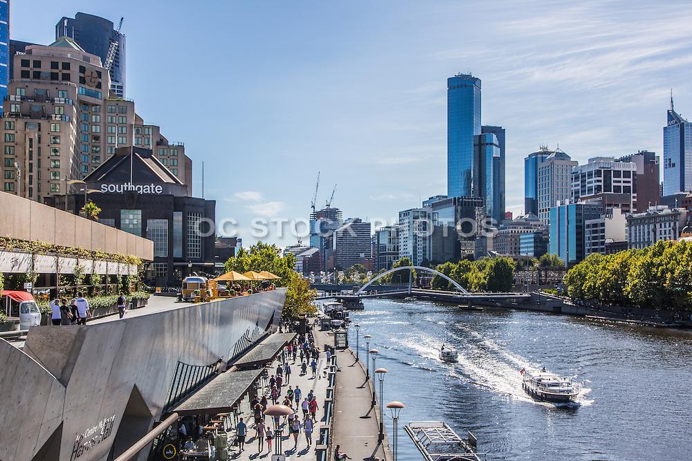 Southgate Promenade Along the Yarra River