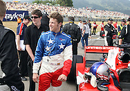 A1 Team USA driver Marco Andretti prior to the start of the A1 GP Sprint Race, Taupo, New Zealand, Sunday 25 January 2009. Photo: Andrew Cornaga/PHOTOSPORT