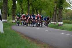 The peloton chases during Stage 1 of the Festival Elsy Jacobs - a 97.7 km road race, starting and finishing in Steinfort on April 28, 2018, in Luxembourg. (Photo by Balint Hamvas/Velofocus.com)