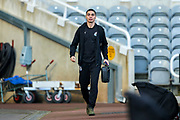 Miguel Almiron (#24) of Newcastle United arrives ahead of the Premier League match between Newcastle United and Huddersfield Town at St. James's Park, Newcastle, England on 23 February 2019.