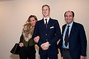 MARIE MOATTI; PRINCE WILLIAM WAXWORK; EMANUEL MOATTI, , 'Engagement' exhibition of work by Jennifer Rubell. Stephen Friedman Gallery. London. 7 February 2011. -DO NOT ARCHIVE-© Copyright Photograph by Dafydd Jones. 248 Clapham Rd. London SW9 0PZ. Tel 0207 820 0771. www.dafjones.com.