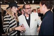 MONET MAZUR; JULIAN SCHNABEL, Frank Cohen and Nicolai Frahm host Julian Schnabel's 'Every Angel has a Dark Side,' private view and party. IN AID OF CHICKENSHED. Dairy Art Centre, 7a Wakefield Street, London. 24 APRIL 2014