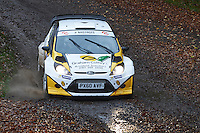 #2 Graham Coffey / Victoria Myers Ford Fiesta WRC Bolton-le-Moors Graham Coffey & Co Solicitors during Neil Howard Memorial Stage Rally, and opening round of the 2015 Motorsport News Rally Championship.  at Oulton Park, Little Budworth, Cheshire, United Kingdom. November 07 2015. World Copyright Peter Taylor. Copy of publication required for printed pictures.  Every used picture is fee-liable. http://archive.petertaylor-photographic.co.uk