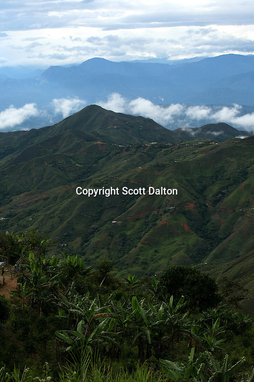 A view of the mountains in a rural area in the southern Colombian state of Nariño, known for its coca fields, on June 26, 2007. (Photo/Scott Dalton)
