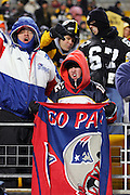 PITTSBURGH - JANUARY 23:  New England Patriots fans celebrate the Patriots win over the Pittsburgh Steelers in the AFC Championship game at Heinz Field on January 23, 2005 in Pittsburgh, Pennsylvania. The Pats defeated the Steelers 41-27. ©Paul Anthony Spinelli