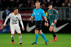 Referee Bjorn Kuipers during the semi final KNVB Cup between FC Utrecht and Ajax Amsterdam at Stadion Nieuw Galgenwaard on March 04, 2020 in Amsterdam, Netherlands