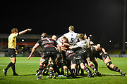 Edinburgh's defence was rock solid during the Guinness Pro 14 2017_18 match between Edinburgh Rugby and Ospreys at Myreside Stadium, Edinburgh, Scotland on 4 November 2017. Photo by Kevin Murray.
