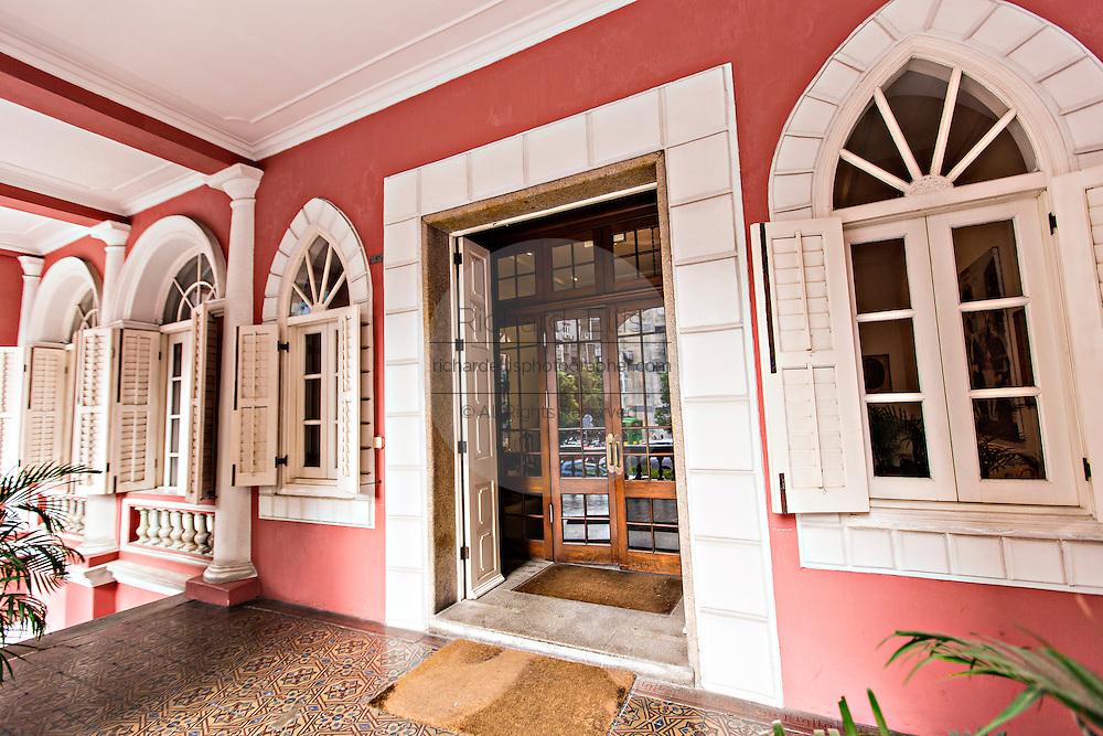 Entrance to the The Military Club or Clube Militar de Macau in Macau.