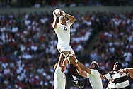Twickenham - Sunday 30 May, 2010: Tom Palmer of England takes a lineout throw during the match between England and the Barbarians at Twickenham. (Pic by Andrew Tobin/Focus Images)