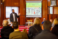 © Licensed to London News Pictures. 05/02/2017. London, UK.  Some tabloid front pages are shown to visitors during an open day at Finsbury Park Mosque in North London.  On Visit My Mosque Day over 150 mosques around the UK open their doors to the public, offering a better understanding of religion in effort to counter rising Islamophobia.  Photo credit: Tolga Akmen/LNP