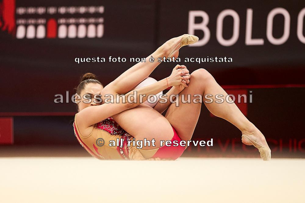 Ekaterina Galkina from Raffaello Motto team during the Italian Rhythmic Gymnastics Championship in Bologna, 9 February 2019.