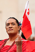 Rome oct 7th 2015, weekly general audience in St Peter's Square. In the picture a Tonga pilgrim
