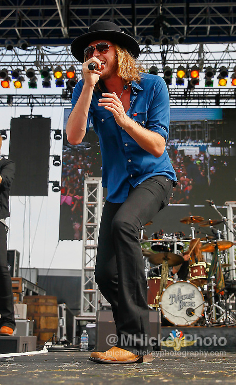 Michael Hobby of A Thousand Horses performs in concert during day 2 of the Brickfest Music Festival at Indianapolis Motor Speedway on July 27, 2014 in Indianapolis, Indiana.