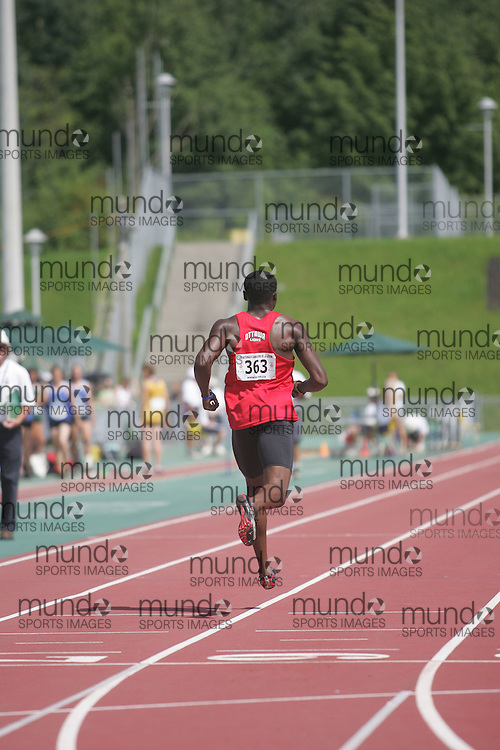 (Sherbrooke, Quebec---9 August 2008) \NY\ competing in the  at the 2008 Canadian National Youth and Royal Canadian Legion Track and Field Championships in Sherbrooke, Quebec. The photograph is copyright Sean Burges/Mundo Sport Images, 2008. More information can be found at www.msievents.com.