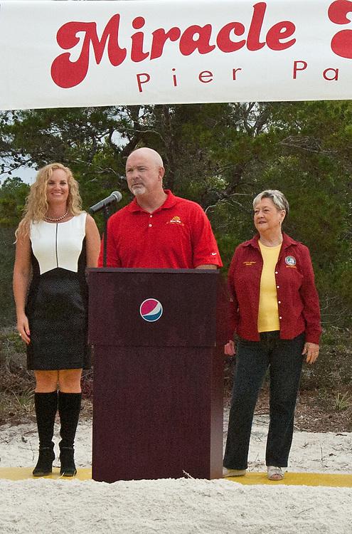 Miracle Strip owner Teddy Meeks welcomes Panama City Mayor Gayle Oberst