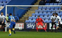 Jonathan Bond of Peterborough United watches the action - Mandatory by-line: Joe Dent/JMP - 24/04/2018 - FOOTBALL - Montgomery Waters Meadow - Shrewsbury, England - Shrewsbury Town v Peterborough United - Sky Bet League One