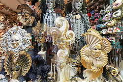 Traditional masks on sale in a shop in Venice. From a series of travel photos in Italy. Photo date: Sunday, February 10, 2019. Photo credit should read: Richard Gray/EMPICS