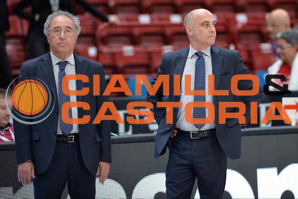 Francesco Venza,<br /> Olimpia EA7 Emporio Armani Milano vs Vanoli Cremona<br /> Lega Basket Serie A 2016/2017<br /> PlayOff semifinale gara 2<br /> Milano 14/05/2017<br /> Foto Ciamillo-Castoria / I.Mancini