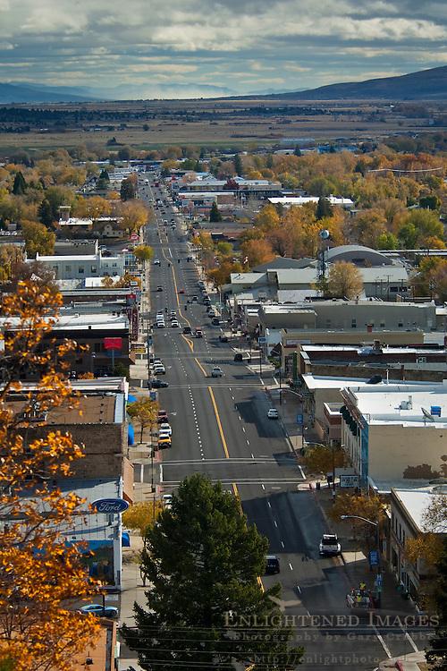 Overlooking Downtown Susanville, Lassen County, California
