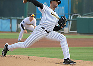 May 19, 2017 - Trenton, New Jersey, U.S - DOMINGO ACEVEDO makes his double-A debut as a starting pitcher for the Trenton Thunder in the game vs. the Portland Sea Dogs at ARM & HAMMER Park. (Credit Image: © Staton Rabin via ZUMA Wire)