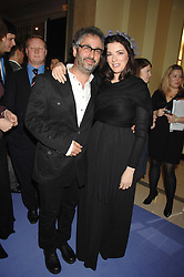DAVID BADDIEL and NIGELLA LAWSON at the 10th Anniversary Party of the Lavender Trust, Breast Cancer charity held at Claridge's, Brook Street, London on 1st May 2008.<br />