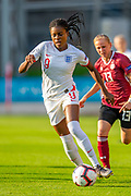 Jessica Naz (#9) of England during the UEFA Women's U19 Championship match between England Women and Germany at McDiarmid Stadium, Perth, Scotland on 16 July 2019.
