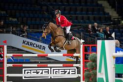 SCHWIZER Pius (SUI), Chidame Z<br /> Stuttgart - German Masters 2018<br /> Eröffnungsspringen<br /> 15. November 2018<br /> © www.sportfotos-lafrentz.de/Stefan Lafrentz