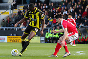 Burton Albion forward Lucas Akins leads the attack during the Sky Bet League 1 match between Burton Albion and Barnsley at the Pirelli Stadium, Burton upon Trent, England on 16 April 2016. Photo by Aaron  Lupton.