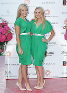 27/9/14***NO REPRO FEE*** Pictured is Michaela O'Neill and Ciara Walsh as Dublin's ladies turn out for a fashionable Cocktail Evening in aid of the Caroline Foundation Pic: Marc O'Sullivan  Friday 26th September: Last night saw a slice of high-end NY style hit Dublin, arriving at The Four Seasons.  Stylish ladies turned out in force to support the event and to mark the start of Breast Cancer Awareness month. The fundraiser, which was a sell-out was the brainchild of Paula McClean a breast cancer survivor and tireless fundraiser. Combining her love of fashion and a good party, the first Cocktail Club Event was born. With a great night of style, fun and raising a lot of money for cancer research, it is no wonder it was a sell- out.  The lucky ladies were treated to a special fashion Show by Brown Thomas who show cased their designers in a salon style. The show featured a selection of key looks mirroring trends from the international runways. The mood for AW14 is easy, elegant, casual and chic. New labels to love include Jenny Packham, Valentino, Osman, Brunello Cucinelli and Moschino. Curated by the affable Michelle Curtain, the clothes were a show-stopper. In keeping with the era of the collection, the evening had a distinctive New York retro theme. Signature 'Original' cocktails from The Four Seasons, featuring Tanqueray London Dry Gin and Ketel-One with the trademark Copper Kettle serve, were the order of the day with eclectic tunes from club DJ Dom to keep the party going. All the lucky ladies went home with a luxury La Bougie Candle. The inaugural Cocktail Club in aid of the Caroline Foundation is the brainchild of Paula McClean a breast cancer survivor and tireless fundraiser. Commenting on the evening, 'Breast Cancer and the Caroline Foundation are very close to my heart and combining this with my love of fashion and a good party, we came up with the first Cocktail Club. We are looking forward to a great night of style, fun and raising a lot of money for