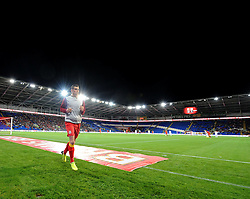 Gareth Bale of Wales (Real Madrid) warms up  - Photo mandatory by-line: Joe Meredith/JMP - Tel: Mobile: 07966 386802 10/09/2013 - SPORT - FOOTBALL - Cardiff City Stadium - Cardiff -  Wales V Serbia- World Cup Qualifier