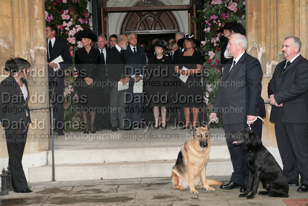 Princess Michael of Kent, Prince Michael of Kent, the Marquess of Londonderry, Baroness Thatcher and Lady Annabel Goldsmith, Mark Birley funeral. St Paul's , Knightsbridge. London. 19 September 2007. -DO NOT ARCHIVE-© Copyright Photograph by Dafydd Jones. 248 Clapham Rd. London SW9 0PZ. Tel 0207 820 0771. www.dafjones.com.