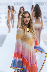 May 25, 2018 - Montecarlo, Monaco - Model presents a creation of Alessandra Vicedomini at the 15th Amber Lounge Charity Fashion Show 2018 in Monte Carlo, Monaco. (Credit Image: © Robert Szaniszlo/NurPhoto via ZUMA Press)