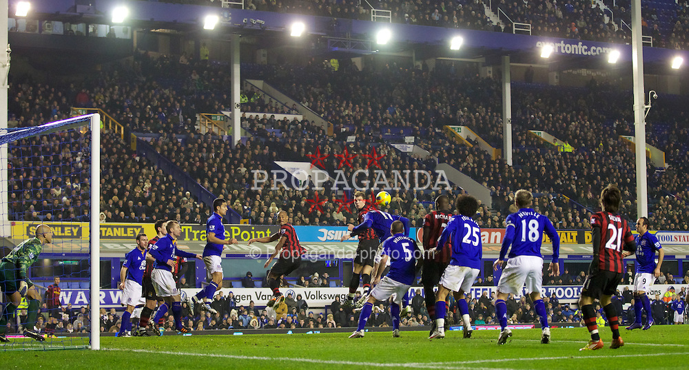 LIVERPOOL, ENGLAND - Tuesday, January 31, 2012: Everton take on Manchester City during the Premiership match at Goodison Park. (Pic by Vegard Grott/Propaganda)
