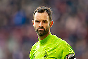 Joe Lewis (#1) of Aberdeen FC during the Ladbrokes Scottish Premiership match between Heart of Midlothian FC and Aberdeen FC at Tynecastle Stadium, Edinburgh, Scotland on 29 December 2019.