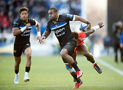 Aled Brew of Bath Rugby in possession - Mandatory byline: Patrick Khachfe/JMP - 07966 386802 - 09/12/2017 - RUGBY UNION - Stade Mayol - Toulon, France - Toulon v Bath Rugby - European Rugby Champions Cup