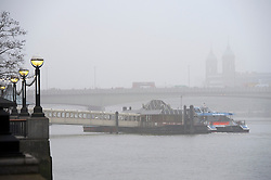© Licensed to London News Pictures. 01/03/2012. A view seen towards Southwark Bridge. Fog in Central London this morning 2nd March 2012.  Photo credit : Ben Cawthra/LNP