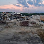 Dead mall demolition - teardown of Metcalf South Mall in Overland Park, Kansas, summer 2017