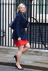 Downing Street, London, March 7th 2017. Justice Secretary and Lord Chancellor Liz Truss arrives in Downing Street for a mini cabinet meeting ahead of the Chancellor's March 8th budget.