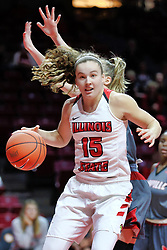 NORMAL, IL - December 16: Frannie Corrigan during a college women's basketball game between the ISU Redbirds and the Maryville Saints on December 16 2018 at Redbird Arena in Normal, IL. (Photo by Alan Look)