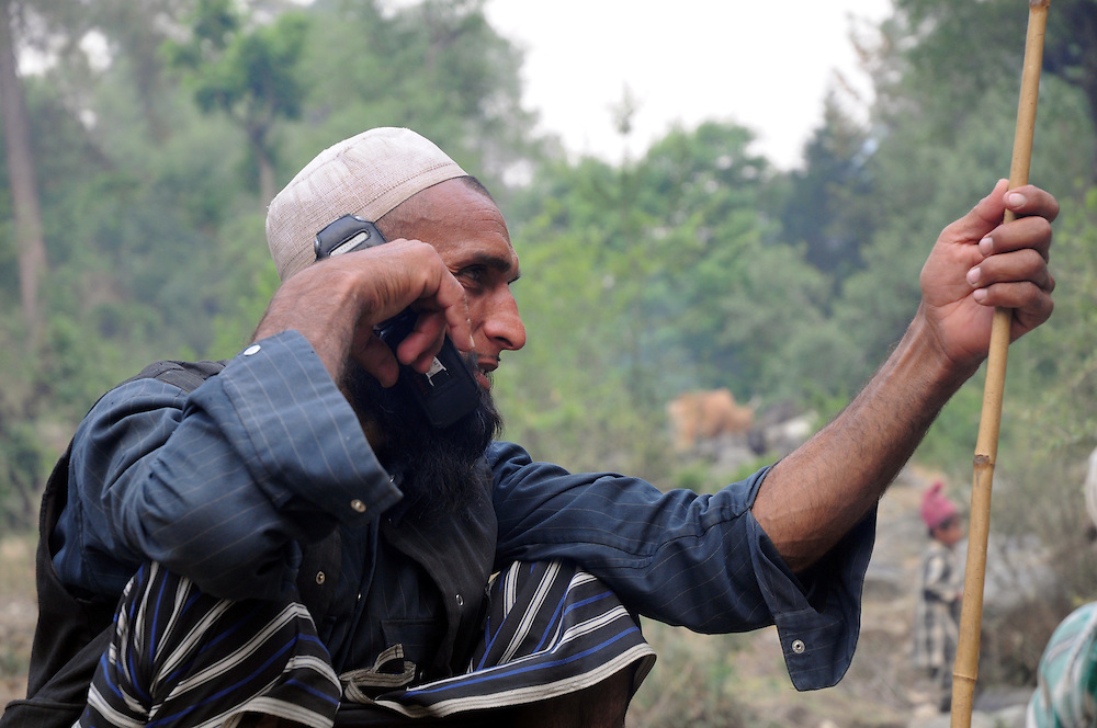 Dhumman on the phone, trying to find out if there's been any progress with the grazing permits from the Forest Department.