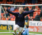 I scored at Tannadice - half time J-League kids games - Dundee United v Hearts, Clydesdale Bank Scottish Premier League at Tannadice Park..© David Young Photo.5 Foundry Place.Monifieth.Angus.DD5 4BB.Tel: 07765252616.email: davidyoungphoto@gmail.com.http://www.davidyoungphoto.co.uk