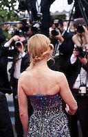 Nicole Kidman faces photographers at the the Grace of Monaco gala screening and opening ceremony red carpet at the 67th Cannes Film Festival France. Wednesday 14th May 2014 in Cannes Film Festival, France.