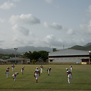 Guayama, Puerto Rico - July 6, 2018: Baseball practice for the members of the 12 and Under selection from Guayama which will compete in the Little League World Series.<br /> (Angel Valentin for ESPN)
