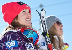 22.01.2011, Tofana, Cortina d Ampezzo, ITA, FIS World Cup Ski Alpin, Lady, Cortina, Abfahrt, im Bild Julia Mancuso (USA, #21, Platz 2) und Lindsey Vonn (USA, #22, Platz 3) // Julia Mancuso (USA., place 2) and Lindsey Vonn (USA, place 3) during FIS Ski Worldcup ladies Downhill at pista Tofana in Cortina d Ampezzo, Italy on 22/1/2011. EXPA Pictures © 2011, PhotoCredit: EXPA/ J. Groder
